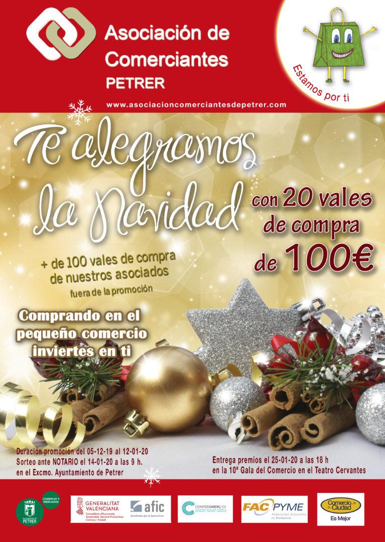 PROMOCIÓN COMERCIAL ASOCIACIÓN COMERCIANTES DE PETRER. NAVIDAD 2019