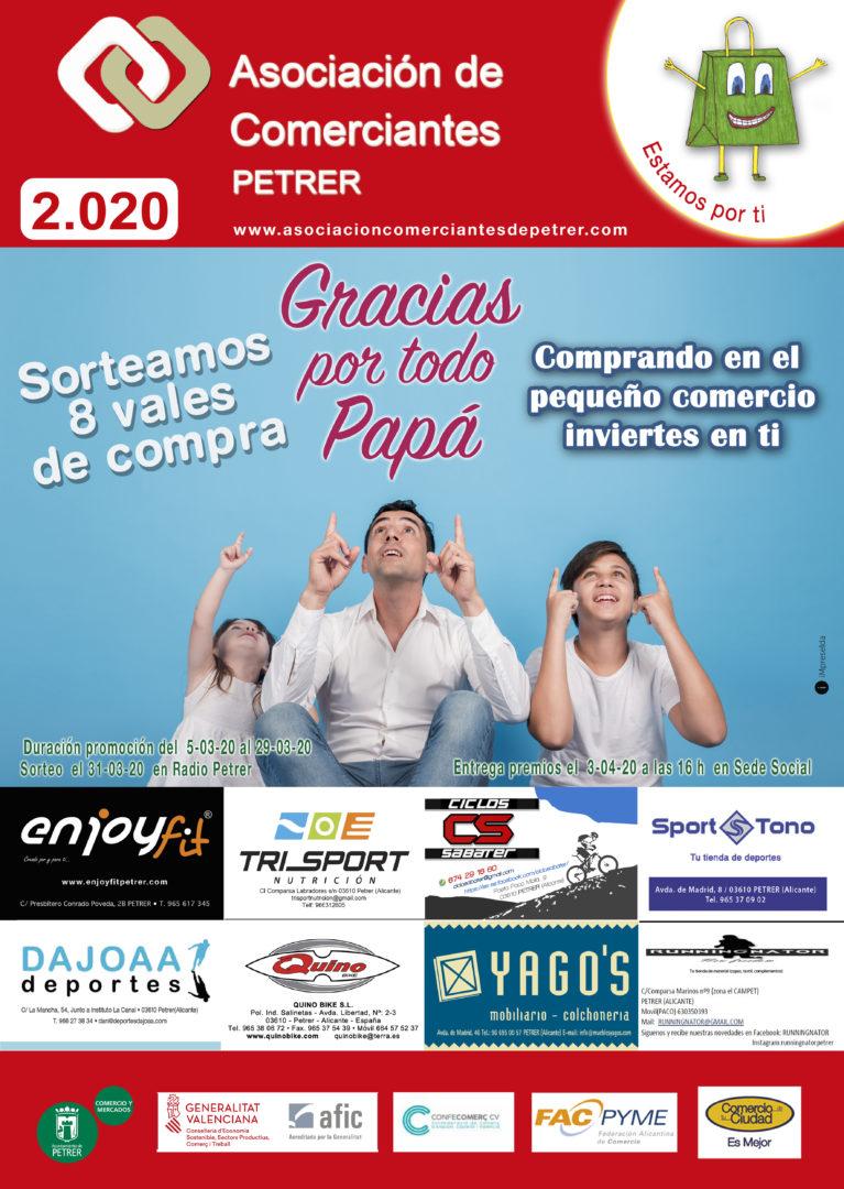 Acción promocional asociacion comerciantes de Petrer para el día del padre