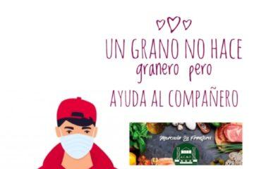El Grupo Abril organiza una recogida solidaria de alimentos en el Mercado de La Frontera de Petrer