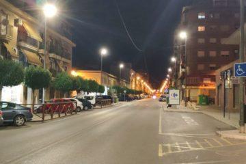 Petrer renueva la iluminación completa de la Avenida de Madrid por tecnología LED de bajo consumo