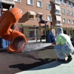 Petrer pone en marcha un plan especial de desinfección de áreas de juegos infantiles frente a la COVID-19 para los próximos seis meses