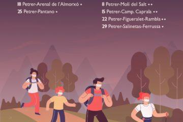 Petrer organiza ocho rutas nocturnas de senderismo para los meses de verano dirigidas a jóvenes y familias