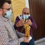 San Rafael vuelve a su hornacina del casco histórico de Petrer el día de su efeméride