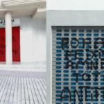 Los grupos políticos del Ayuntamiento de Petrer condenan las pintadas insultantes aparecidas esta mañana en las sedes locales de PSOE y PP