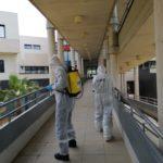 Petrer intensifica la desinfección exterior del centro La Molineta y pide colaboración a la  Unidad Militar de Emergencias