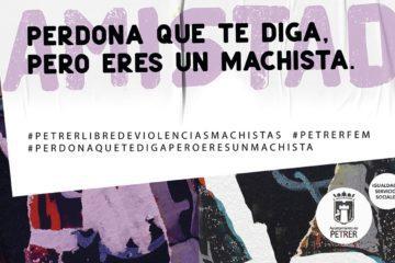 Petrer se ilumina de morado contra la violencia de género tras una campaña de concienciación que ha suscitado debate en redes sociales