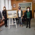 Donan un cuadro del antiguo matadero de Petrer coincidiendo con el 94 aniversario de su inauguración