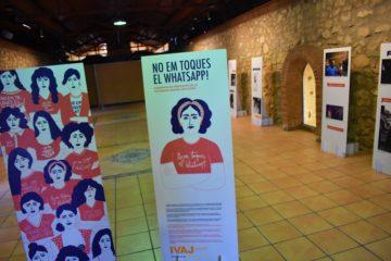 "El Forn Cultural acoge la exposición ""No em toques el WhatsApp"" sobre la violencia machista hasta el próximo 21 de febrero"