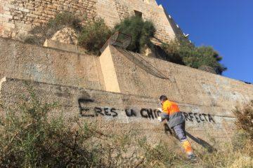 La Policía investiga nuevos ataques al patrimonio con pintadas en el Castillo-fortaleza y pide la colaboración de los vecinos