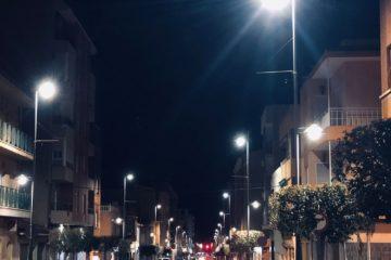 Petrer renueva toda la iluminación de la avda de Elda con tecnología led de bajo consumo