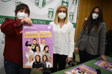 Mujeres de colectivos en primera línea durante la pandemia protagonizan la campaña del 8M de Petrer