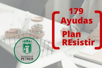 Petrer completa el Plan Resistir concediendo un total de 179 ayudas por un importe de 392.775€ a la hostelería y gimnasios, entre otros