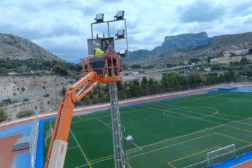 Esports renova la il·luminació completa d'El Barxell per a millorar la visibilitat del recinte esportiu