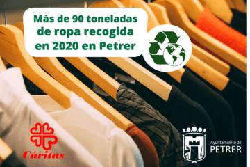 Petrer recicla más de 90 toneladas de ropa y calzado en 2020