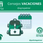 La Policia Local de Petrer oferix consells als veïns per a unes vacances més segures