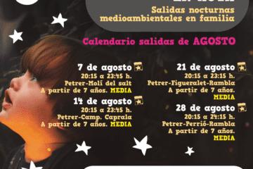 4 rutas nocturnas en agosto para conocer en familia los parajes naturales de Petrer